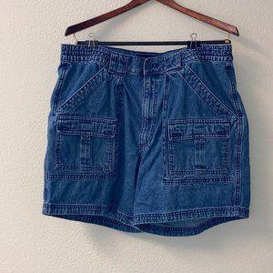 St John's Bay Cargo Shorts Denim 100% Cotton 38